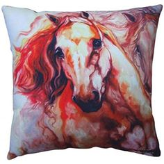 Thunder Theme Couch Sofa Pillow with Two Galloping Horses Design ** Click on the image for additional details. (This is an affiliate link)