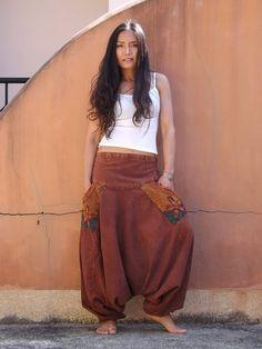 Harem Pants ...Yoga Pants ..Leisure Pants ..Stone Wahsed by Ablaa