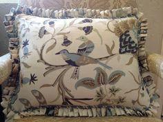 Fan fold ruffle pillow