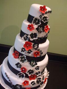 Black and Red Velvet Wedding Cake Designs | Wedding Photos ...