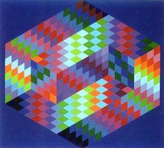 Victor Vasarely AMBIGU-B 1970, papír, tempera, Pécs, Vasarely Múzeum