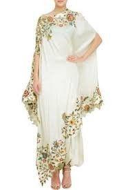 Buy White Smoke Color Cape Dress by Akanksha Singh at Fresh Look Fashion Stylish Dresses, Elegant Dresses, Beautiful Dresses, Fashion Dresses, Casual Dresses, Dresses Dresses, Dresses Online, Girls Dresses, Look Fashion