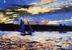 Winslow Homer (American, 1836-1910) | Gloucester Sunset, 1880