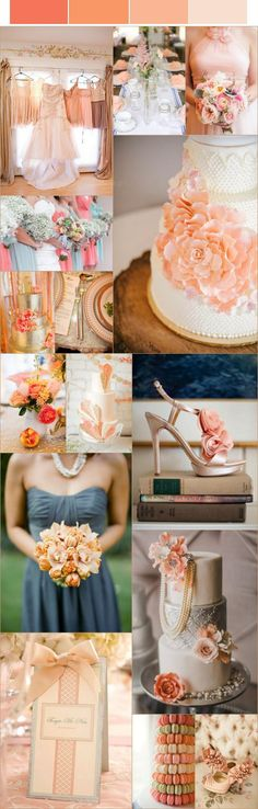 Amazing peach wedding ideas #peach #wedding #inspiration