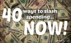 Ideas on how to save money today and going forward.  Simple things that can be changed quickly.
