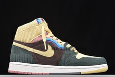 Products Descriptions:  New Air Jordan 1 High AJ1 SW Sean Wotherspoon AQ9133-102 For Sale  Tags: Air Jordan 1, Air Jordan 1 GS, 2019 Air Jordan 1 AJ1 SW Sean Wotherspoon, Nike Air Jordan 1, CO-BRANDED Air Jordan 1 Model: AIRJORDAN1-AQ9133-102 5 Units in Stock Manufactured by: NIKEAIRJORDAN1 Latest Sneakers, Sneakers For Sale, Jordan 11 Blue, Nike Air Presto Black, Gold Basketball Shoes, Metallic Gold Shoes, Sean Wotherspoon, Kobe Shoes, Nike Classic Cortez