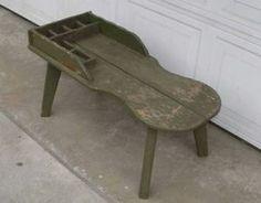 Primitive Cobbler's Bench | ... Antique Primitive Rustic Wooden Cobbler's Work Bench Coffe Table
