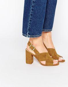 Image 1 ofCarvela Serene Cross Strap Slingback Heeled Sandals