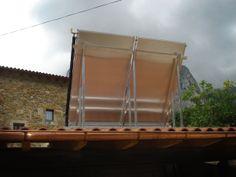 Vista trasera de los paneles solares térmicos