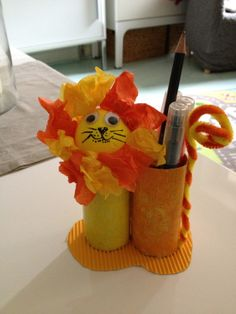 Toilet Paper Roll Pencil Holder by NounouLili
