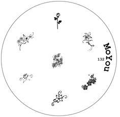 Image plate 132 - MoYou Nails - Nail Stamping Plates, Nail art kits, Nail Polish and Decorations Image Plate, Nail Art Kit, Nail Stamping Plates, Nail Polish, Nails, Decor, Finger Nails, Decoration, Ongles