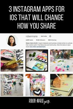 https://robenmarie.com/blog/3-instagram-apps-that-will-change-how-you-share?utm_campaign=coschedule&utm_source=pinterest&utm_medium=Roben-Marie%20Smith%20-%20Artist Check out these 3 Instagram apps I just found and discover YOUR best time to post! #instagram