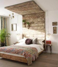 Amazing Rustic Bedroom Design Ideas With Neutral Touch Supported By Wooden Bed With Canopy And Wood Floor