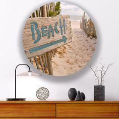 Wandcirkel Beach Sign - Sweet Living Shop Beach Signs, Sweet, Shop, Home Decor, Candy, Decoration Home, Room Decor, Home Interior Design, Store