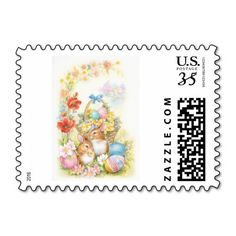 Vintage style Easter stamp