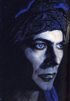 Bowie as Screaming Lord Byron in the short film Jazzin' for Blue Jean, 1984