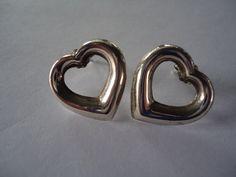 Vintage Sterling Silver Open Heart Shaped by Sarasvintageattic