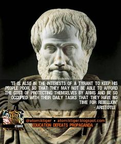Aristotle: Tyrants keep people poor, so they can't afford arms Free Collage Maker, Daily Task, Politics Today, Democratic Socialist, Photo Store, We Need You, Have Time, Embedded Image Permalink