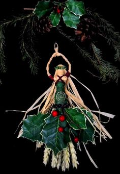 Pagan Wiccan Spiral Yule Goddess Handcrafted by PositivelyPagan, Yule Crafts, Wiccan Crafts, Pagan Christmas, Christmas Crafts, Christmas Ornaments, Natural Christmas, Kwanzaa, Yule Decorations, Christmas Decorations