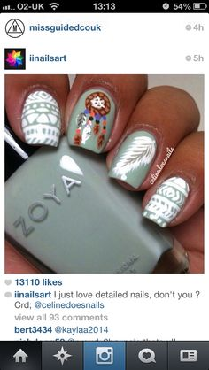 Aztec nails and a dream-catcher!