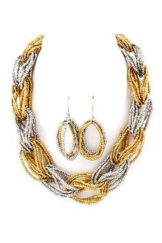 unique beaded necklace set