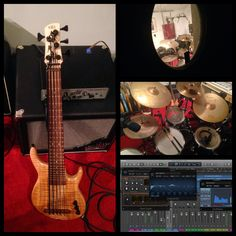 New Music for my next DIY video is being made. This time featuring my Kala exotic top 5-string fretted solid body Ubass, live drums and more... Will soon put it all together and release the video on playubass.com