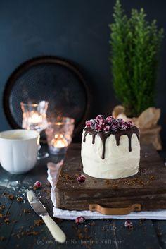 Türchen Nr. 7   Weihnachtsküchlein mit Lebkuchen, Kaffee-Mousse und Cranberries von ess.raum