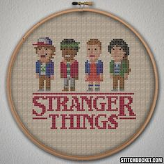Stranger Things Cross Stitch Pattern - Instant Download PDF
