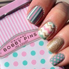 Nails Uñas Lindas uñas.  Diseños uñas
