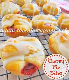 Cherry Pie Bites from The Country Cook | Top 10 Freezer Friendly Make Ahead Recipes from Gooseberry Patch
