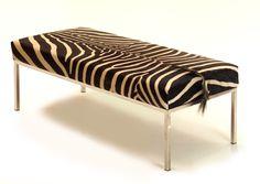 Zebra skin daybed