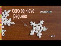 SMALL crochet snowflake in 2 ROWS for mobile ❄️ Tejiendo Peru Crochet Gifts, Knit Crochet, Art Japonais, Crochet Snowflakes, Iris, Crochet Earrings, Sewing, Knitting, Amor Youtube