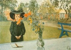 Carl Larsson - Kersti in Black 1905