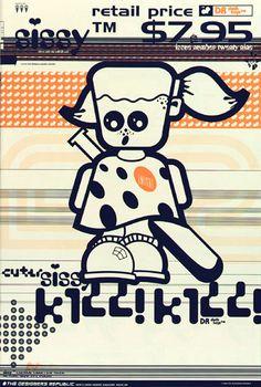 Emigre Magazine Issue The Designers Republic. More pixel-piracy on the Hi-Techno from The Bastard Ventolin Kids a. Gfx Design, Graphic Design, Type Posters, Poster Prints, Emigre Magazine, Designers Republic, Techno, Desktop Design, Commercial Art