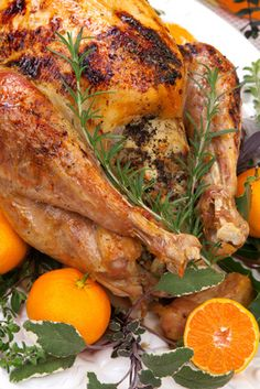 Easter Sunday Recipe: Citrus and Herb Roasted Chicken. A roasted chicken is the perfect meal for a crowd.