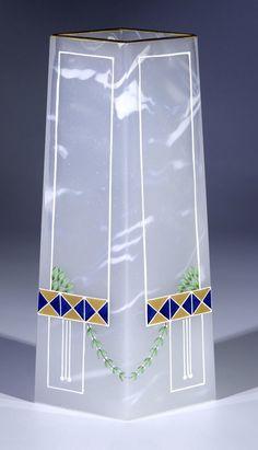 Vase Riedel Polaun Glass Art Deco Nouveau vintage