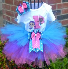 Bubble Guppies Personalized Birthday Tutu Set-
