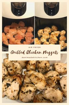 Chicken Nuggets Air Fryer - Healthy and clean eating recipe with air fryer nuggets cooked to perfection in 8 minutes. Air Fryer Oven Recipes, Air Fry Recipes, Air Fryer Dinner Recipes, Cooking Recipes, Healthy Recipes, Cooking Tips, Healthy Meals, Healthy Vegetables, Dinner Healthy