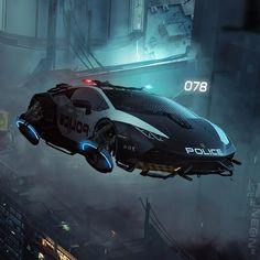 Cyberpunk 2077, Arte Cyberpunk, Aliens, Hover Car, Futuristic Art, Futuristic Vehicles, Delorean Time Machine, Mustang, Sports Cars Lamborghini