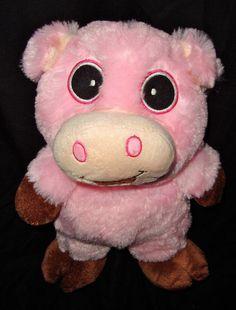 """Adorable Smiling Pink Pig By Cal Plush 12"""" Stuffed Animal Plushie #CalPlush"""