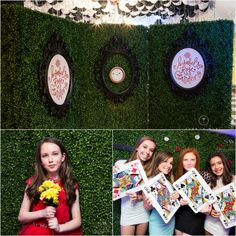 Unique & Creative Bat Mitzvah Photo Booth for Alice In Wonderland Theme {Party by Swank Productions, Sean Smith Photography} - mazelmoments.com