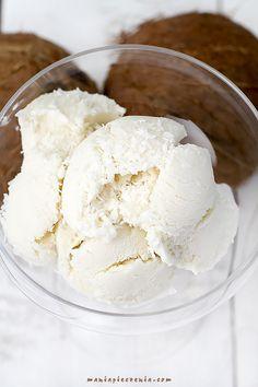 lody kokosowe, lody domowe, domowe lody kokosowe, coconut ice cream, no churn coconut ice cream, condensed milk coconut ice cream