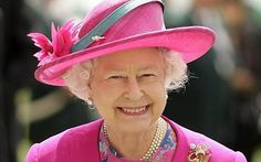Her Majesty...pretty in pink