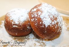 """Cooking With Mary and Friends: Fasnacht (Or Fastnacht) or Translated, """" Fast Night """" Doughnut made with yeast during pre Lent. No hole, no filling.just dusted with powdered sugar. Fastnachts Recipe, Recipe Ideas, Pennsylvania Dutch Recipes, Cinnamon Raisin Bread, Fruit Jam, Dry Yeast, Dessert Recipes, Donut Recipes, Yummy Recipes"""
