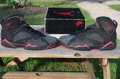 7c68376ee4e5 OG Original DS Jordan VII 7 Raptor Black Red 1991 1992 Shoes - WIITH an OG  BOX