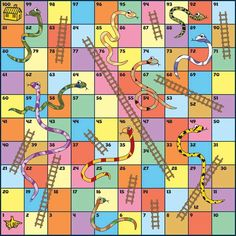 snakes and ladders template found Snakes And Ladders Template, Snakes And Ladders Printable, Board Game Template, Printable Board Games, Mini Games, Games To Play, English Games, Name Games, Color Games