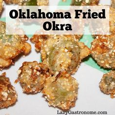 Oklahoma announced it's official state meal in It included a plethera of Southern favorites and, my favorite, fried okra. State Foods, Chicken Fried Steak, Sausage Gravy, Okra, World Recipes, Ranch Dressing, Gumbo, Soups And Stews, Oklahoma