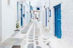 Mykonos Streetview, Greece Wall Mural wall murals and are easy to install. Buy self-adhesive Mykonos Streetview, Greece Wall Mural wallpaper by Limitless Walls. Mykonos Town, Mykonos Greece, Santorini Vacation, Mykonos Island, Kusadasi, Countries To Visit, Places To Visit, Paisajes, Destinations