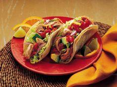 Clover Leaf's Tuna Soft Tacos Meals Under 400 Calories, 300 Calorie Meals, No Calorie Foods, Low Calorie Recipes, Tuna Recipes, Mexican Food Recipes, Healthy Recipes, Tuna Tacos