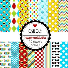 Digital Scrapbook ChillOut INSTANT DOWNLOAD by azredhead on Etsy